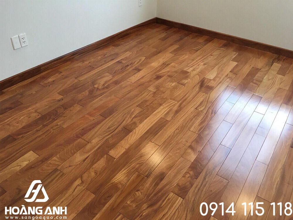 Lắp đặt sàn gỗ Gõ Đỏ Nam Phi nhập khẩu