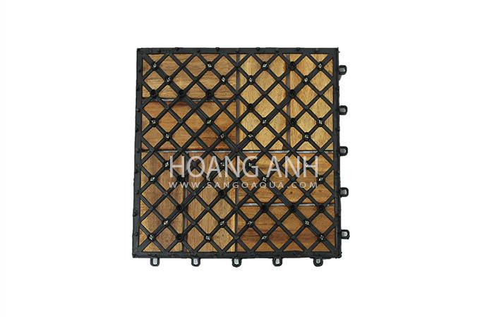 Mặt sau sàn gỗ Tràm Bông Vàng