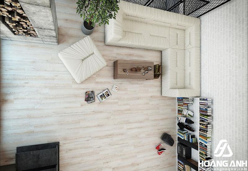 Không gian lót sàn gỗ AGT hiện đại